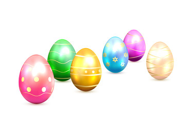 Easter eggs with decorative elements