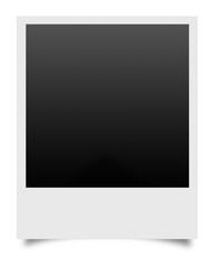 blank photos on a white background