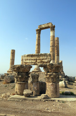 Temple of Hercules on the Citadel hill in Amman