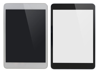 modern tablet PC similar to ipad isolated with clipping path