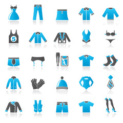 Clothing and Fashion collection icons - vector icon set