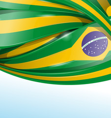 brazil  background with flag set