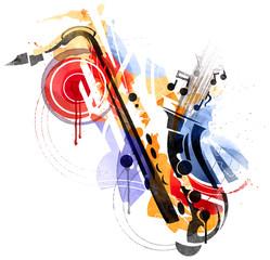 Fototapete - Art of Sax