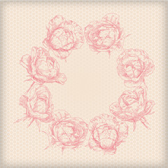 Hand drawing bridal card flower background