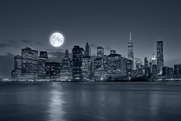 Aluminium Prints New York City at night