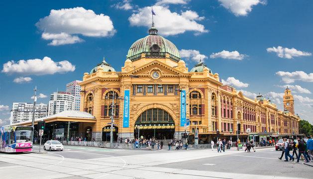 Flinders street Station in Melbourne. Australia.