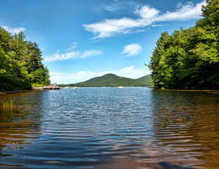 Oxbow Lake in the Adirondack Mountains