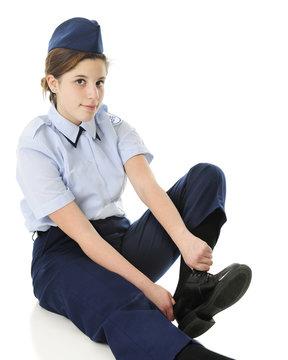 Dressing for Jr. ROTC