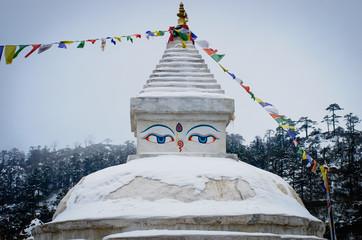 Wall Murals Nepal Buddhist stupa in Khunde, Nepal