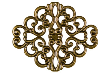 Filigree, decorative element for manual work, isolated on white