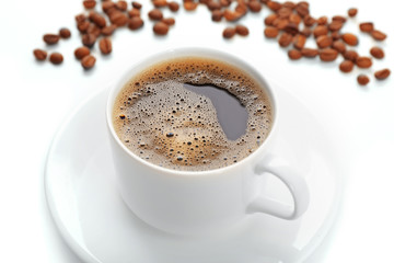 Cup of coffee close-up