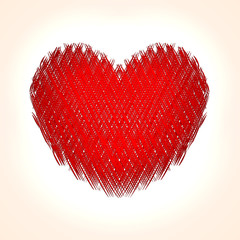 Vector abstract heart background for Saint Valentine