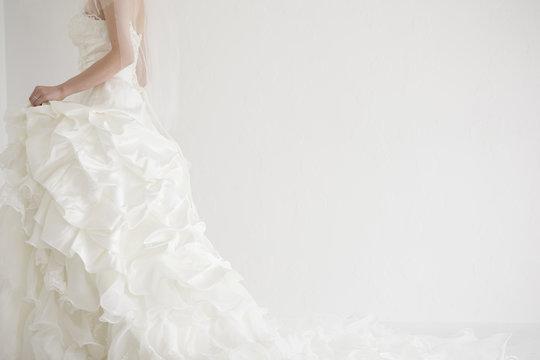 Bride is walking