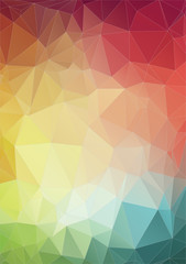 Flat Style colorful geometric abstract background