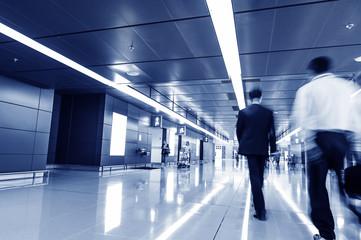 passenger in the Hong Kong airport