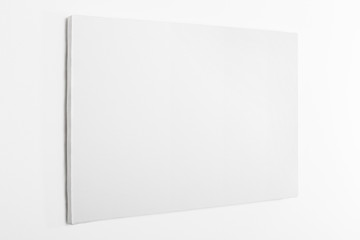 White canvas on white wall, clipping path included