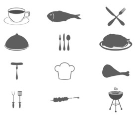 Icons set food