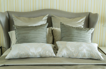Concept for luxury bedroom with pillows