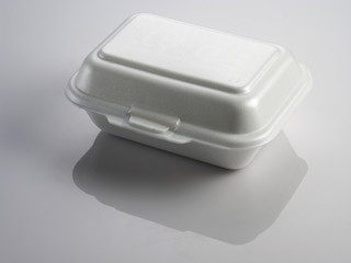 Styrofoam lunch box