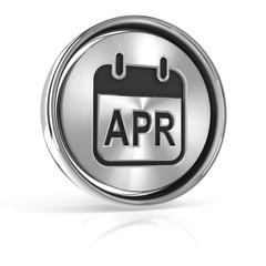 Metallic April calendar icon