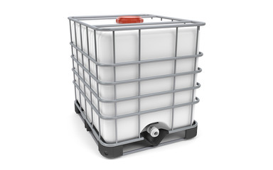 Plastic bulk with metallic cage