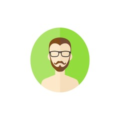 man hipster avatar user picture cartoon character