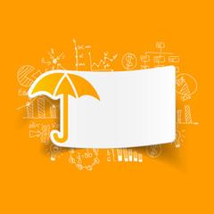 drawing business formulas. umbrella