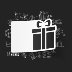 drawing business formulas. gift box