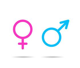 Gender symbol icons