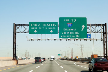 NJ Turnpike (I-95) exit to I-278 Interstate in New Jersey