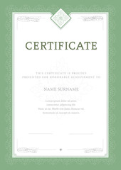 certificate, Diploma of completion, vector design template