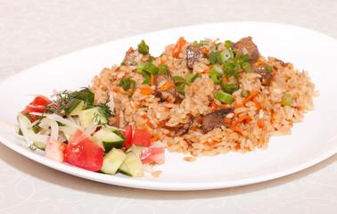 Pilaf with vegetables