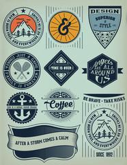 Vector. Vintage Insignias / logotypes set. Vector design element