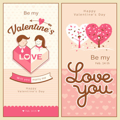 Happy Valentines Day banners collections