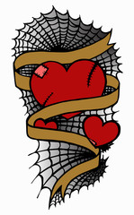 Hearts tattoo