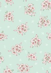 Floral seamless pattern in vintage style