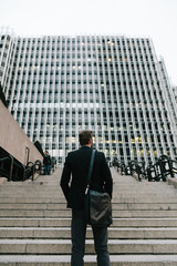 Businessman in a Financial District