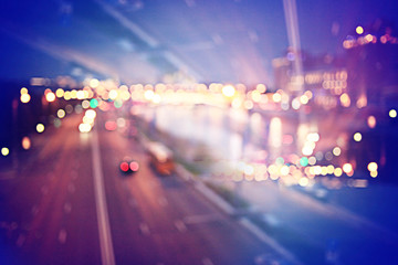 abstract night background bokeh city