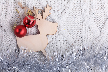 Christmas decorations for Christmas and New Year background
