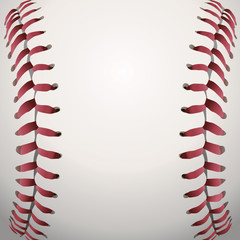 Baseball Laces Closeup Background Illustration
