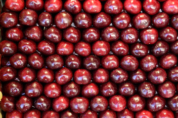 pattern of red cherries
