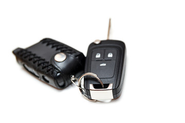car key isolated on white background.gift concept