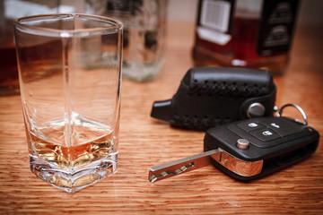 Booze driving concept. Drunk driver concept