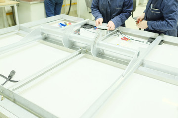 The workshop for the production of electronic equipment LEDs