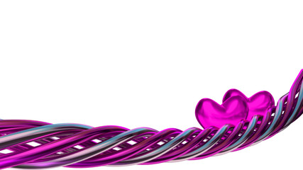 purple love design element with hearts
