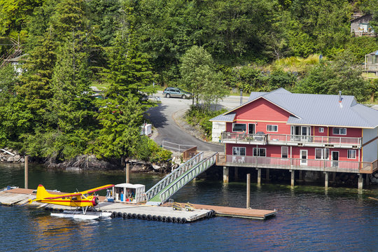Float plane waits to refuel at depot on Tongass Narrows
