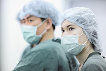 veterinarian surgeons,selective color technique