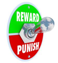 Reward Vs Punish Toggle Switch Lever Discipline Lesson