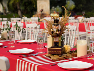 Nutcracker Centerpiece At A Wedding