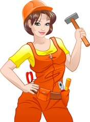 Beautiful girl builder